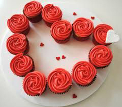 Rosy Swirls Dozen Cupcakes