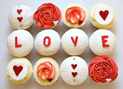 Beloved Rose Dozen Cupcakes