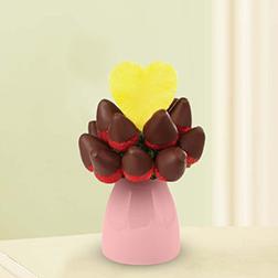Glowing Heart Fruit Bouquet