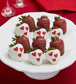 Hearts & Roses Dipped Strawberries