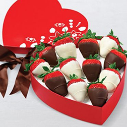 Hugs and Kisses Dipped Strawberries