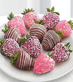 Love Sprinkles Dipped Strawberries