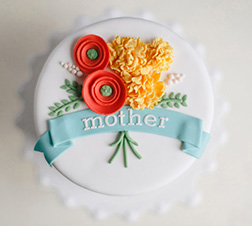 Vintage Floral Mother's Day Cake