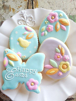 Intricately Floral Easter Cookies