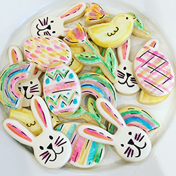 Rainbow Party Easter Cookies