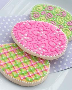 Ornamental Easter Egg Cookies