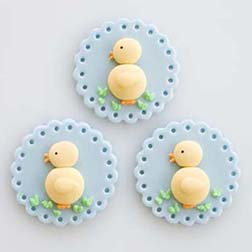 Baby Blue Chicks Cookies