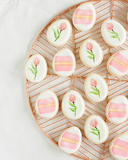 Rosy Days Easter Cookies