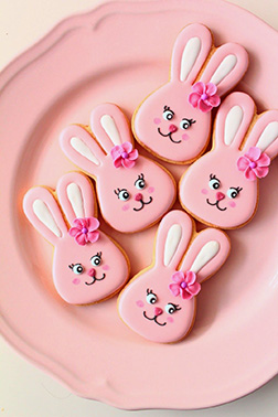 Pretty Pink Bunny Cookies