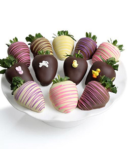 Easter Rainbow Dipped Strawberries