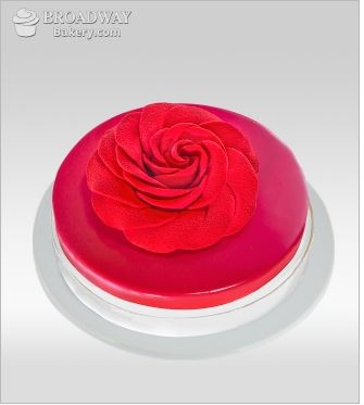 Red Rosette Chocolate & Raspberry Cake