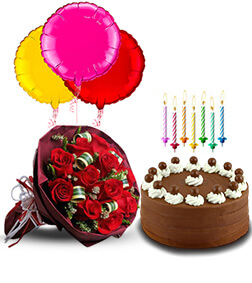 Birthday Surprise Collection : Signature Chocolate Cake, Enchanting Roses