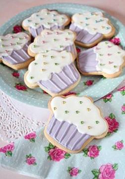 Purple Sparkle Cupcake Cookies