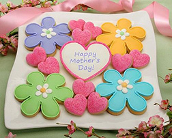 Hearts And Flowers Mom Cookies