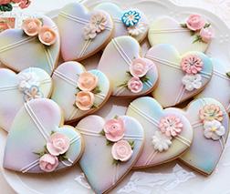 Marble Hearts Cookies