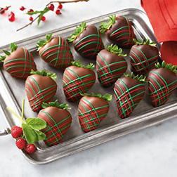 Classic Christmas Dipped Strawberries