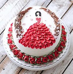 Red Rose Princess Cake