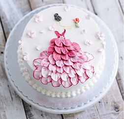 Rose Petal Princess Cake