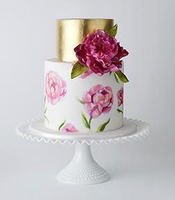 Golden Blooms Cake