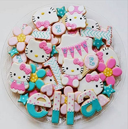 Hello Kitty Birthday Cookies