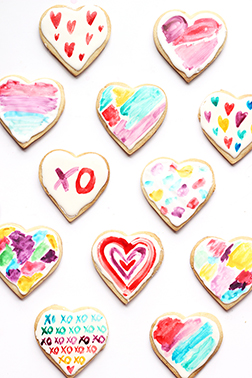 Rainbow Hearts Cookies