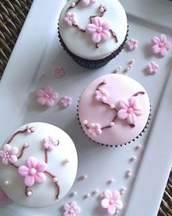 Cherry Blossom Cupcakes - One Dozen