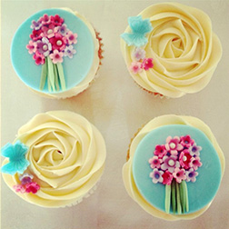 Flower Bouquet Dozen Cupcakes