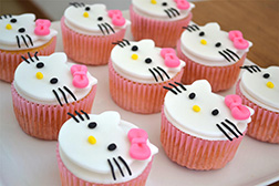 Hello Kitty Party Cupcakes