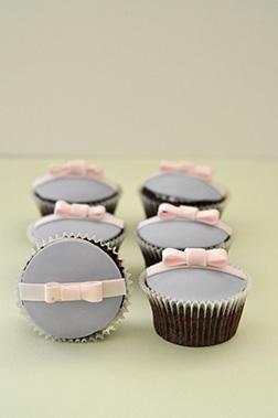 Pink Bow Dozen Cupcakes