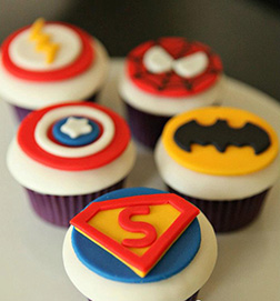 Superhero Badges Dozen Cupcakes
