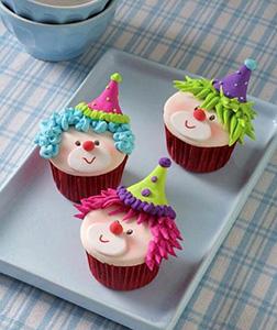 Colorful Clowns Dozen Cupcakes