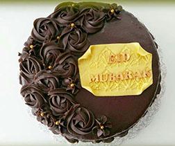 Chocolate Rosettes Eid Cake