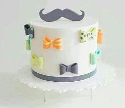 Fancy Bow Ties Cake
