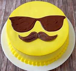 Dad Emoji Father's Day Cake
