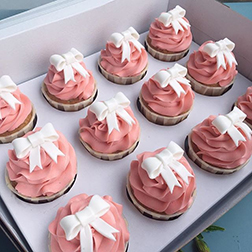 Beautiful Bows Dozen Cupcakes