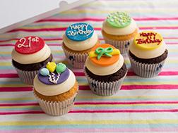 Birthday Cheers Dozen Cupcakes