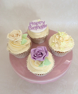 Plush Rose Dozen Cupcakes
