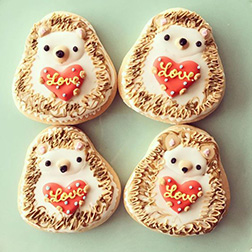 Hedgehog Love Cookies