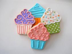 Retro Cupcake Cookies