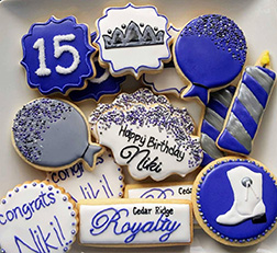 True Blue Birthday Cookies