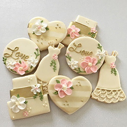 Perfect Wedding Dress Cookies