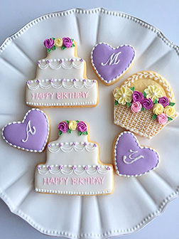 Lavender Hearts cookies
