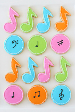 Musical Note Cookies