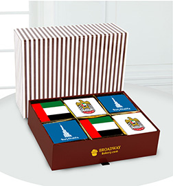 Symbolic National Day Brownie Box