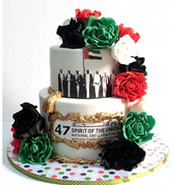 Nation's Pride Tiered Cake