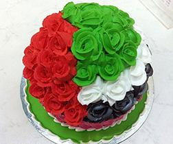 UAE Flag Rosette Cake