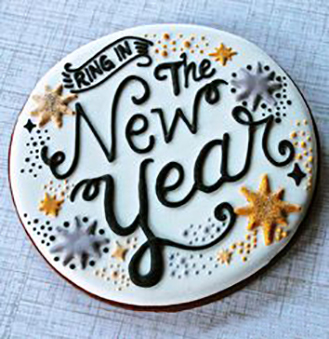 Ring in the New Year Cookie Box