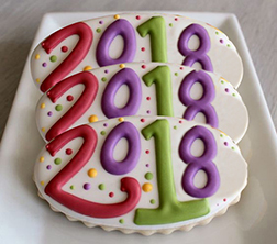 New Year's Celebration Cookie Box