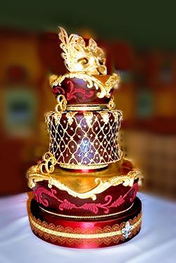 Grand Masquerade Ball Tiered Cake
