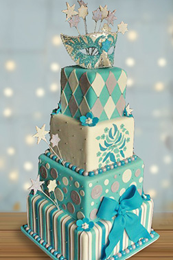 Mysterious Masquerade Tiered Cake